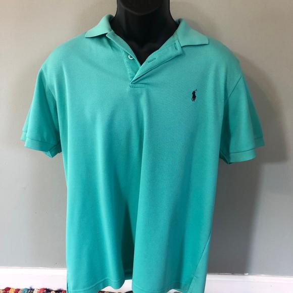 Polo by Ralph Lauren Other - Polo Ralph Lauren Logo Shirt Rugby Teal Blue Neon